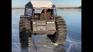 """Ренато Усатый прокатился на вездеходе """"Шерп"""" по льду"""