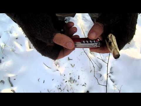 Günstige Bushcraft Messer Test: Teil 1  Victorinox Offiziersmesser Huntsman