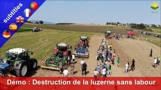 Machine demonstration – Destroying an alfalfa crop without plough and herbicides