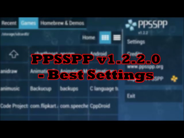 Ppsspp Settings For Games Brownplay S Diary