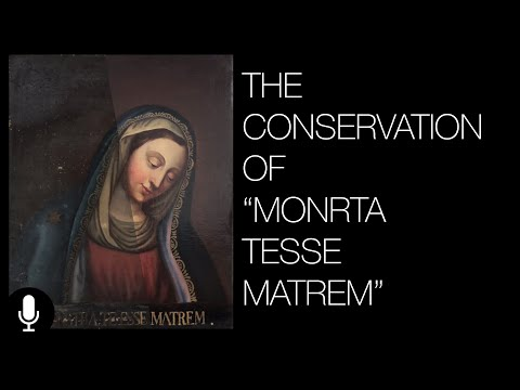 Restoring a Painting of Mother Mary