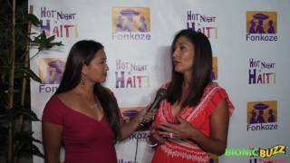 Bettina Bush Interview at Hot Night in Haiti Charity Event