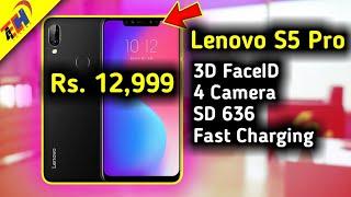 Lenovo S5 Pro Launched at 12999 Rs. - 4 Camera, 3D FaceID, Notch - Lenovo ne Dhamaka Kar Diya