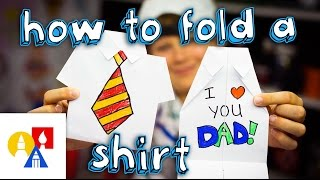 How To Fold An Origami Shirt (Fathers Day Card)