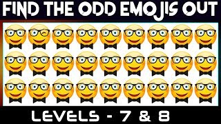 Find The Odd Emoji Out If  You Are A Genius   Find The Difference    How Many Odd Can You Spot?