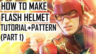 How to make FLASH helmet. Justice League cosplay Tutorial ( PART 1)