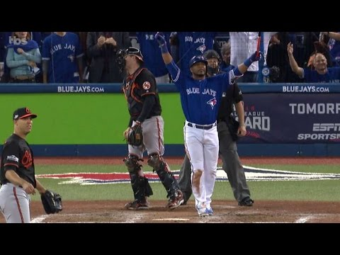 BAL@TOR: Encarnacion Launches Walk-off Homer In 11th, Blue Jays To ALDS