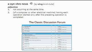 Synchronous vs. Asynchronous Communication