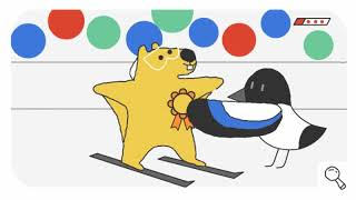 Winter Olympic day 12 google doodles series snow games | Kholo.pk