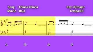 Chinna Chinna Aasai - Piano