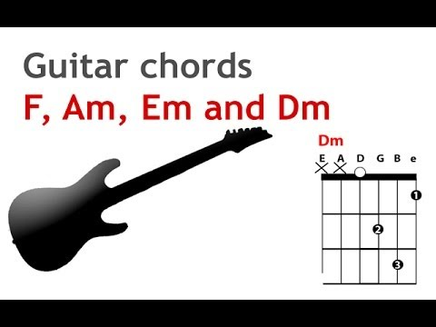 How to play the F, Dm, Am and Em chords on the guitar for beginners - guitarguitar.net