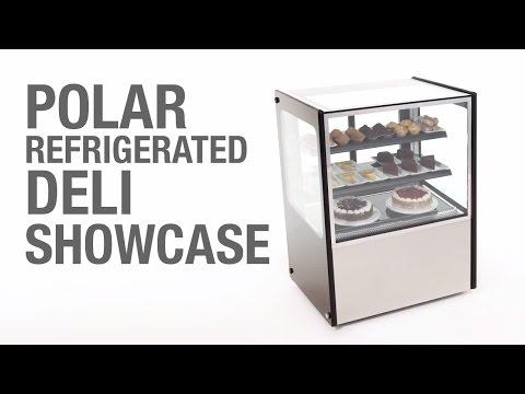 Video Polar display koelvitrine - RVS - inhoud: 300 liter - GG216