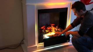 Premium P10, Elektrokamin, Teil 1  Funktion Wasserdampf Feuer RF10 Kamin