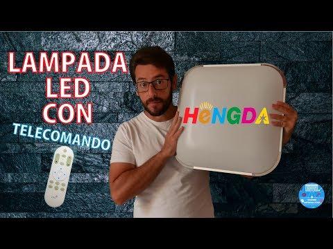 Lampada da soffitto LED 24 Watt dimmerabile Hengda con Telecomando