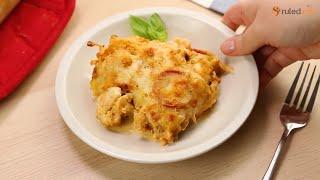 Keto Cauliflower Pizza Casserole Recipe