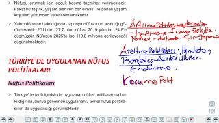 Eğitim Vadisi AYT Coğrafya 3.Föy Beşeri Sistemler 1 (Nüfus Politikaları) Konu Anlatım Videoları