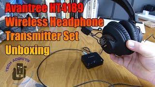 Avantree HT4189 Wireless Headphone Transmitter Set Unboxing