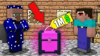 Minecraft NOOB vs PRO : NOOB BOUGHT THIS SUPER MAGIC CHEST FOR 100.000$! Challenge 100% trolling