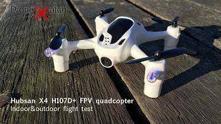 Hubsan X4 H107D+ indoor & outdoor flight video
