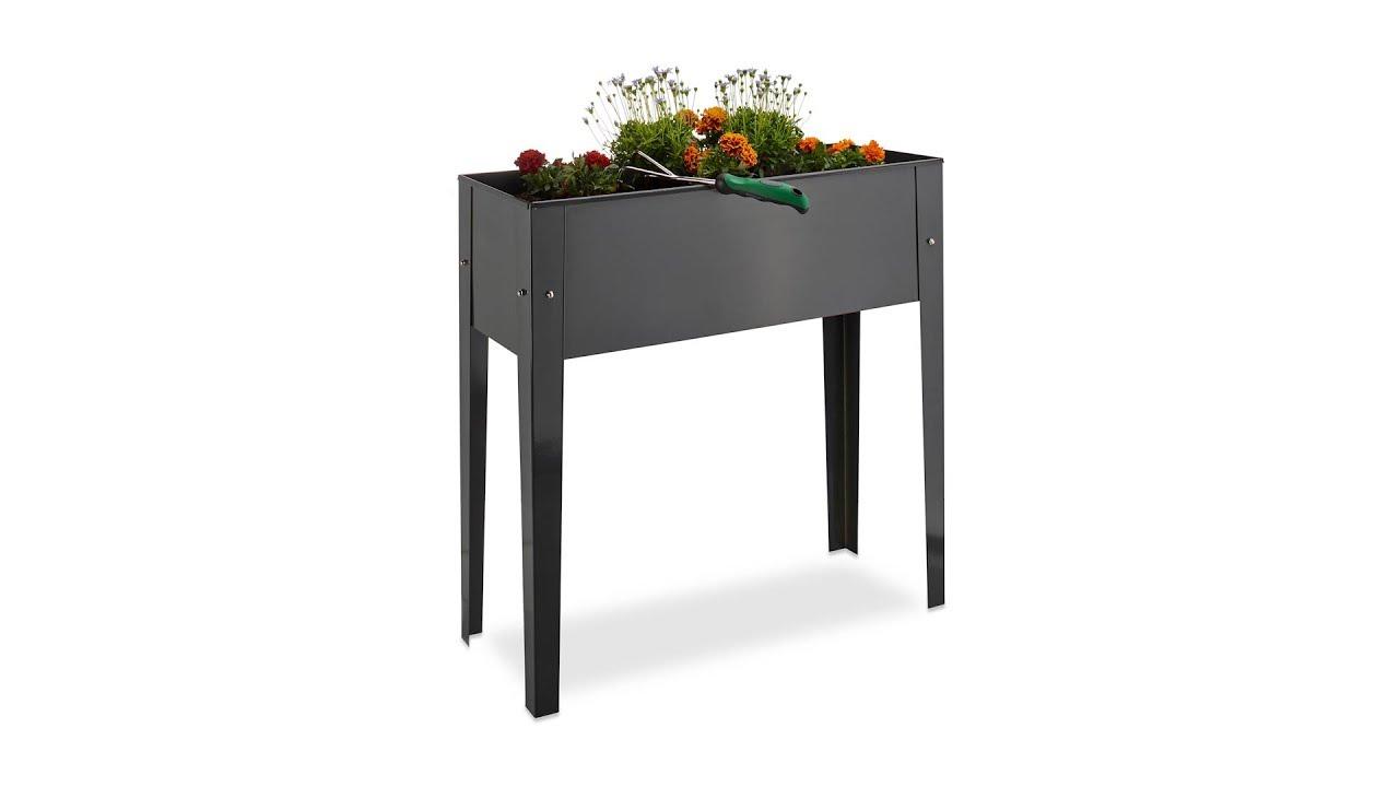 hochbeet schmal aus metall kaufen. Black Bedroom Furniture Sets. Home Design Ideas
