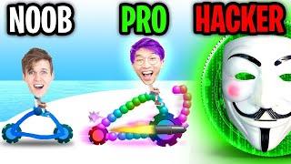 Can We Go NOOB vs PRO vs HACKER In DRAW JOUST!? (FLYING GLITCH!?)