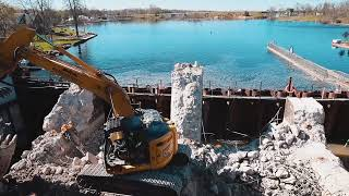 Trent-Severn Waterway Infrastructure Project – North Bundle Demolition Trailer