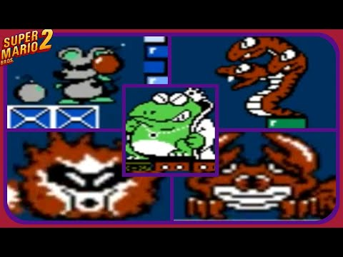 Super Mario Bros  2 (USA) ~ All Bosses - смотреть онлайн на