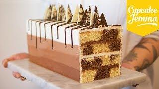 Rectangular Chocolate Marble Cake Recipe | Cupcake Jemma