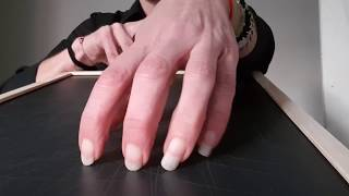 ASMR VERY AGGRESSIVE SCRATCHING  OF MY LONG NATURAL NAILS ON CHALKBOARD (DEEP MARKS)