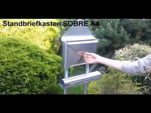 SOBRE A4 Stand Briefkasten Edelstahl