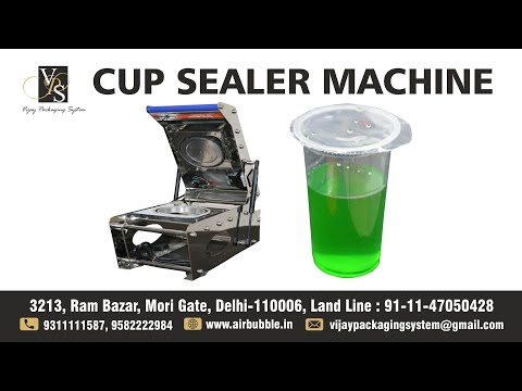 Round Container Tray Sealer - Single Cup Sealer