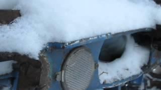 холодный запуск т-40 при -15 сваркой