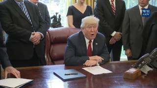 President Donald Trump Leads a Signing Event Regarding the Trade Expansion Act