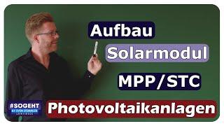 Solarmodul - Aufbau und Daten - Photovoltaikanlagen - einfach und anschaulich erklärt