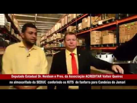 VÍDEO:DEPUTADO DR. NEIDSON CONFERE NO ALMOXARIFADO DA SEDUC KITS DE FANFARRA PARA CANDEIAS DO JAMARI