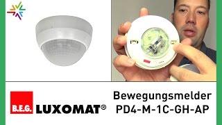 professioneller Bewegungsmelder fürs Lager B.E.G. LUXOMAT PD4-M-1C-GH-AP [watt24-Video Nr. 125]