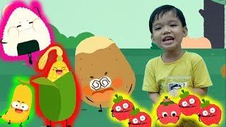 Bé học tên các loại quả và trái cây tổng hợp hoạt hình vui nhộn Kênh trẻ em - video cho bé yêu