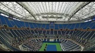 The US Open Tennis 2016, Arthur Ashe Stadium shiny new roof