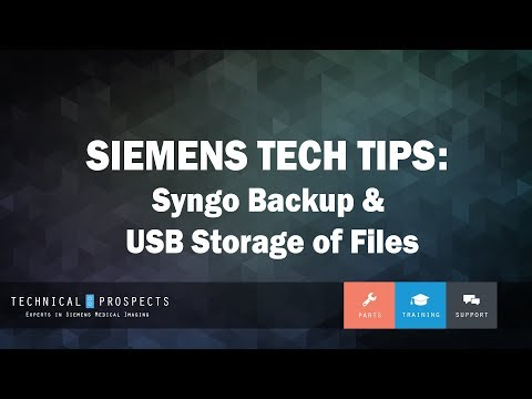 Syngo Backup & USB Storage of Files