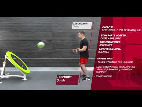 Video Fitness First Freestyle exercise - Rebounder Chest Pass with Jump - Medicine Ball