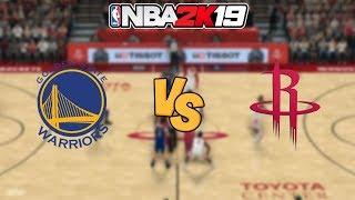 NBA 2K19  - Golden State Warriors vs. Houston Rockets -  Full Gameplay