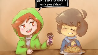 Frisk and Chara's Undertale One Year Anniversary Comic Compilation