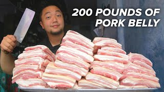 How A Professional Chef Cooks 200 Pounds of Pork Belly • Tasty