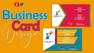 6071FREE LESSON | Design a Business Card Back Side in Photoshop Like A Pro