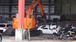 自動車解体工場見学