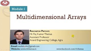 Lecture-7: Multi dimensional Arrays in MATLAB (Hindi/Urdu)