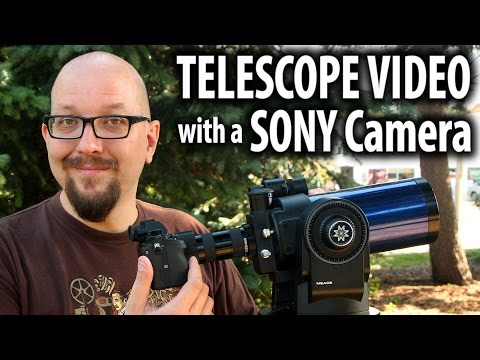 Shooting Video with a Telescope and a Sony Camera – Meade ETX-90EC