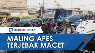 Terjebak Macet, Pelaku Maling Motor Milik Anak SMK di Bogor Dikepung Warga dan Diikat Pakai Tali