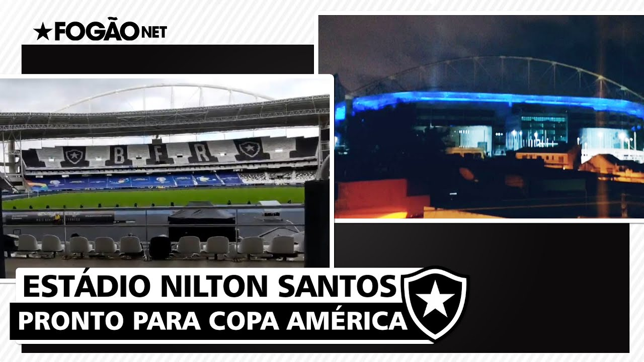 VÍDEO: Estádio Nilton Santos, do Botafogo, é personalizado para a Copa América e tem teste de luzes