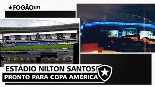 Estádio Nilton Santos, do Botafogo, se prepara para Copa América-2021 🏟️⭐